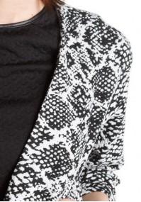 Biało czarny Żakiet