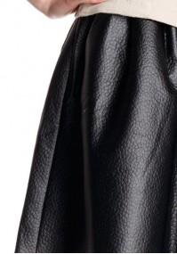 Rozkloszowana Spódnica imitacja skóry
