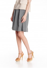 Flared Skirt with checkered