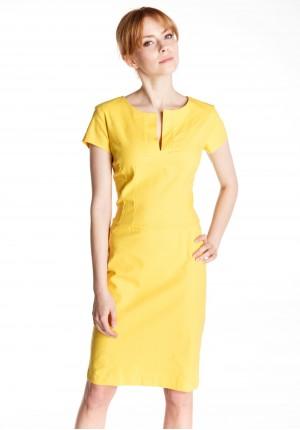 Sukienka 1386 (żółty)