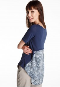 Navy blue Trapezoidal Blouse