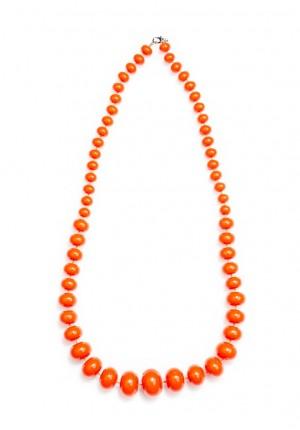 Naszyjnik 0181 (pomarańczowy)