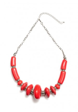 Necklace with red stones