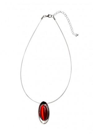 Naszyjnik z czerwonym oczkiem