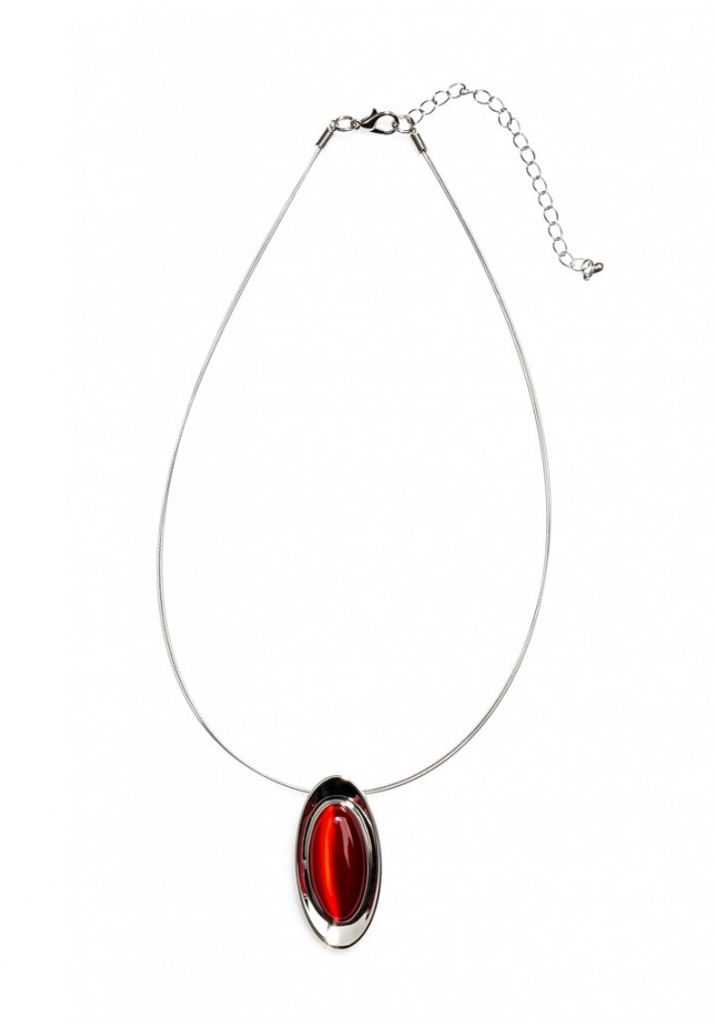 Necklace with red eye