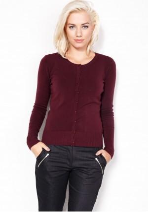 Sweater in dark plum color