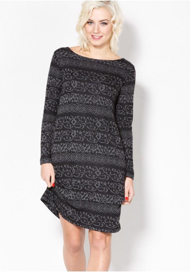 Knitted Dark Dress