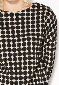 Beżowo-czarna Bluzka