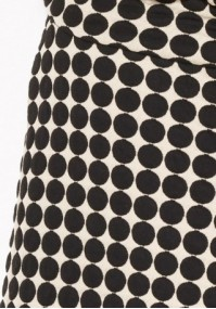 Beige Skirt with black dots