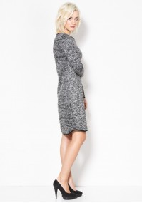 Knitted melange Dress