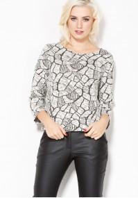 Sweter w asymetryczny wzór