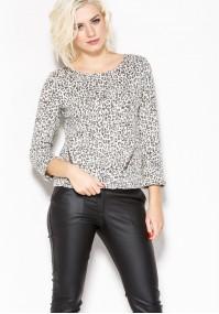 Sweterek w panterkowy wzór
