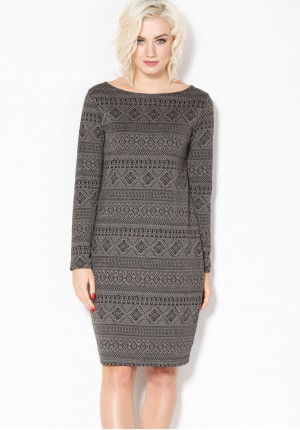 Dress in Aztec patterns