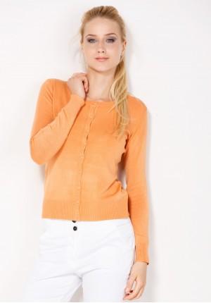 Jasnopomarańczowy Sweter