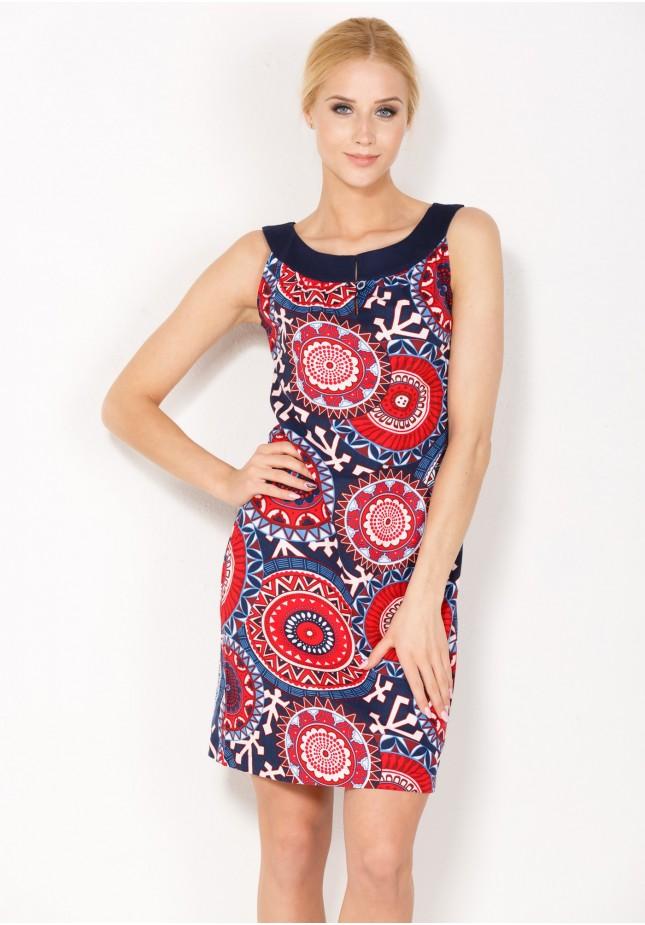 Sukienka 1384 (z czerwonym)
