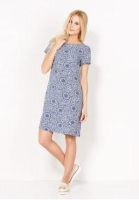Sukienka 1020 (z niebieskim)