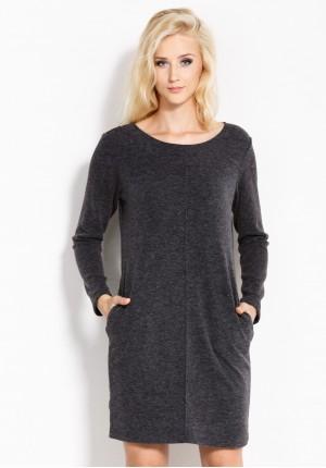 Dress with stitching
