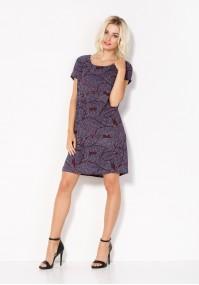 Zwiewna fioletowa Sukienka