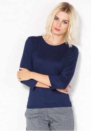 Navy blue Basic Sweater