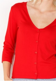 Red Sweater with V-neckline