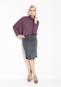 Gray knitted Skirt