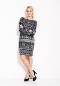 Szaro-czarna Sukienka