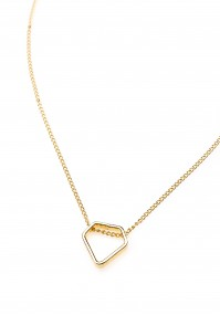 Gold-plated Necklace with diamond