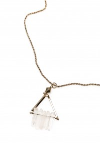 Necklace with stones in a triangle