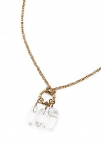 Necklace with hanging stones