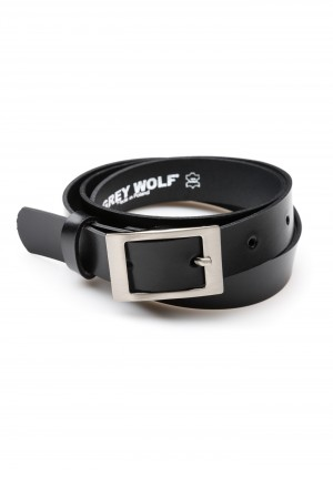 Black Belt with a rectangular buckle