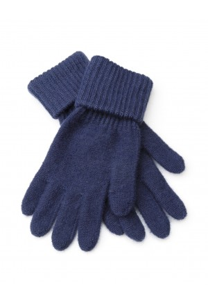 Navy blue Gloves with a cuff