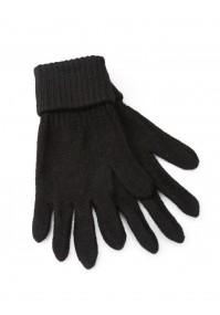 Czarne Rękawiczki z mankietem