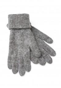 Szare Rękawiczki z mankietem