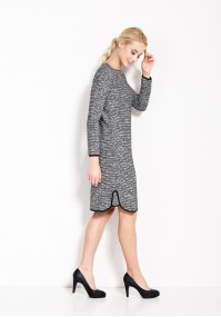 Gray Dress with trimming