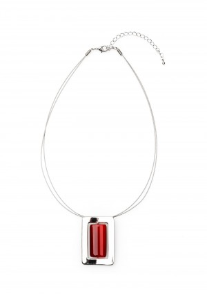 Necklace with a red pendant