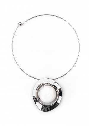 Necklace with white stone