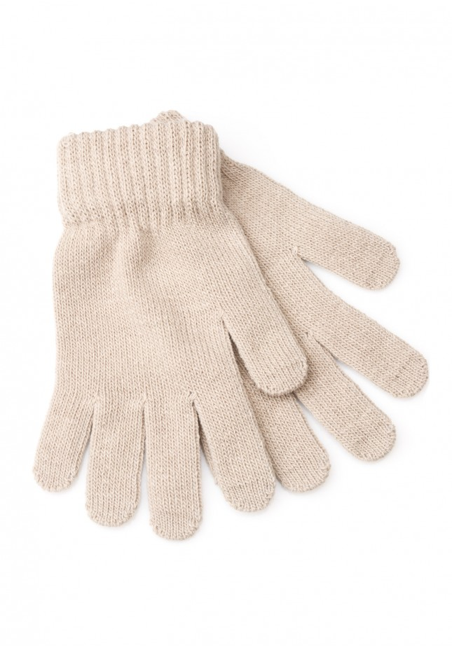 Jasnobeżowe Rękawiczki