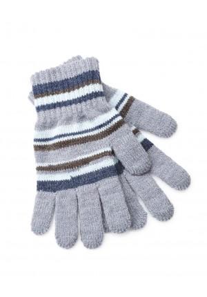 Rękawiczki w błękitne paski