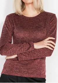 Prosty Bordowy Sweterek