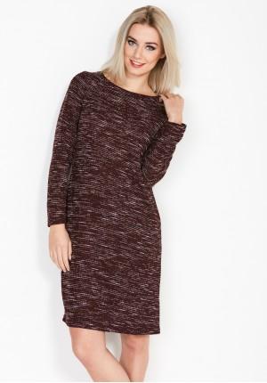 Burgundy Dress with pockets
