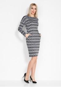 Dress with rhombus