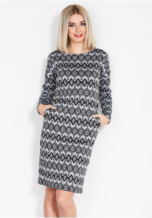 Sukienka w romby