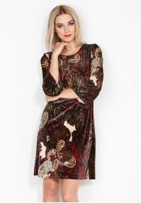 Sukienka 1676 (z czerwonym)