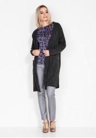 Płaszczowy Szary Sweter