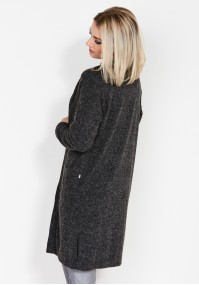 Long mantle grey sweater