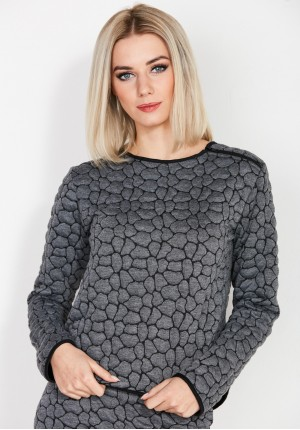 Gray quilted Blouse
