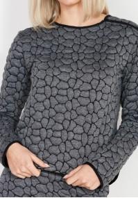 Szara pikowana Bluza