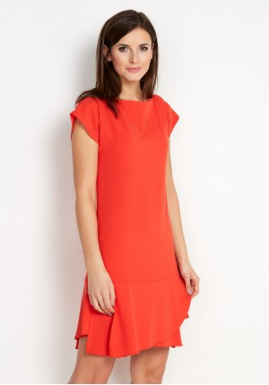 Red Dress with frill