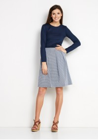 Plaid Skirt with pleat