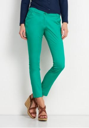 Zielone bawełniane Spodnie